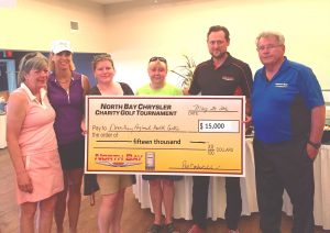 NBC Golf cheque Pres